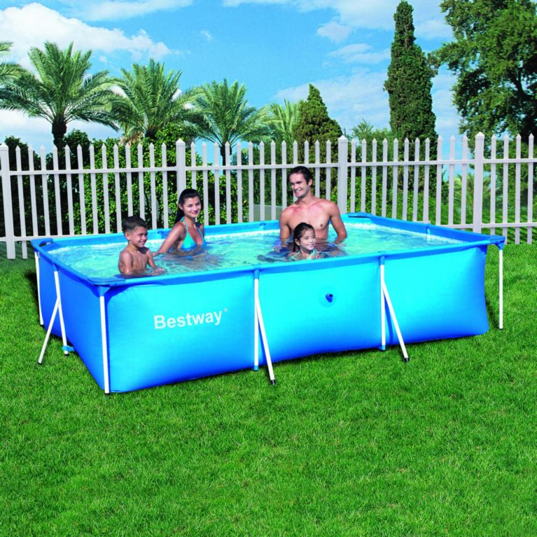 bestway frame pool 118 x 79 x 26 inch 300 x 201 x 66 cm. Black Bedroom Furniture Sets. Home Design Ideas